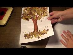 Crafts on the theme of autumn with their hands Diy Cutting Board, Plastic Cutting Board, Plastic Canvas Coasters, Autumn Trees, Diy And Crafts, Tree Crafts, Thanksgiving, Deco, Painting