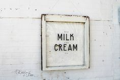 Milk and Cream Co. Sign - Knick of Time. OBSESSED.