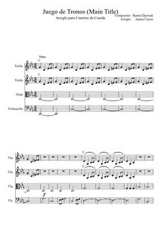 Game of Thrones (Main Title) - Arrangement for String Quartet | MuseScore