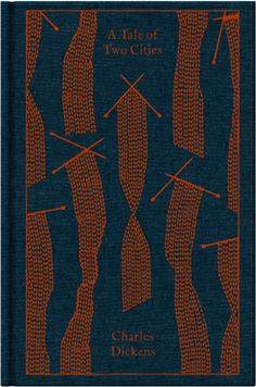 Love this book cover!  -  A Tale of Two Cities by Charles Dickens. Penguin's Clothbound Classics with cover design by Coralie Bickford-Smith.