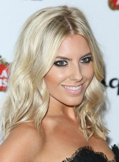 2014 Mollie King Long Hairstyles: Light Blonde Hair. Love the blonde.