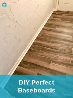 As promised, I'm back with more of our Entry Hall Makeover.  Today I'm  going to attempt to tell/show you how to get your very own perfect  baseboards with the perfectly finished off ends.   We are not pros by any means, total DIY people here.  Everything we do  we look up on Pinterest,  YouTube and Hometalk of course!  If you don't already know, those  three sites are the best for the DIY types. *wink*   A few weeks ago my honey installed our nice new wood look tile flo…
