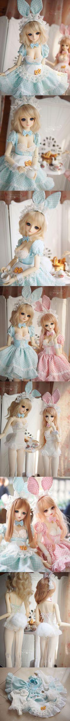 BJD Clothes Girl Blue Dress Set for SD Ball-jointed Doll_CLOTHING_Ball Jointed Dolls (BJD) company-Legenddoll