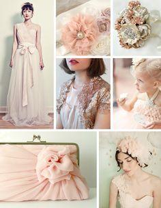 explore champagne wedding colors