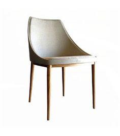Cadeira Bloo cadeira bloo com braços designer Marcelo Ligieri material estrutura com pés em metal pintado, aço inox ou folheados em lâmina de madeira e assento em fibra de vidro estofada dimensões L50 x A77 x 53