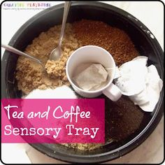 Tea and Coffee Sensory Tray