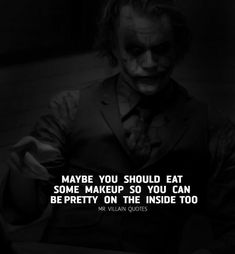 Heath Ledger Joker Quotes, Best Joker Quotes, Badass Quotes, Sarcastic Quotes, True Quotes, Words Quotes, Funny Quotes, Qoutes, Sayings