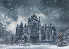 St Giles at Christmas by Scott Black- Scotland