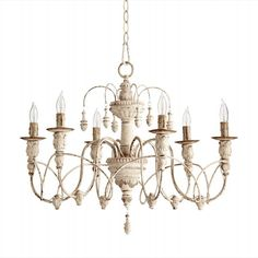 QO-6016-6-70 Quorum Ceiling Lights Whites & Creams French Country 25 inch to 30 inch