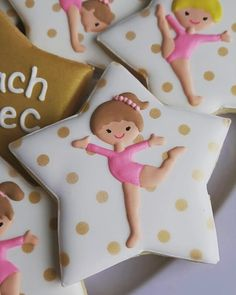 Personalized Gymnastic Cookie favors for the end-of-season party! #lifesabatch…