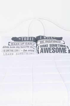 Today I Will Pillowcase - Set Of 2