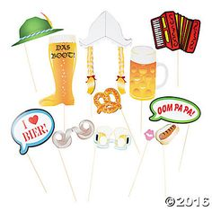 Oktoberfest Photo Props / Photo Booth by Mylittleshopsupplies