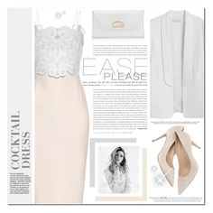 """Cocktail Dress"" by monazor ❤ liked on Polyvore featuring Antonio Berardi, MANGO, Christian Louboutin and cocktaildress"