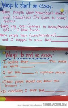 Topics For An Essay Paper How To Start An Essay Or End One  Image Only Teaching Writing Writing  Prompts Old English Essay also General English Essays  Life Hacks You Wish You Knew Sooner  College Trends  Life  Personal Essay Samples For High School