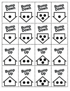 The Bump Game (& Variations) : Practice Counting On and Counting Down - the cutest little adding & subtracting game your kiddos will ever play!