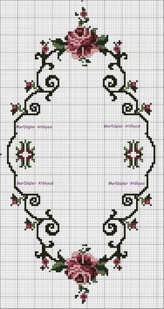 This post was discovered by ne Cross Stitch Rose, Cross Stitch Borders, Cross Stitch Flowers, Cross Stitch Charts, Cross Stitch Designs, Cross Stitching, Cross Stitch Patterns, Hardanger Embroidery, Ribbon Embroidery