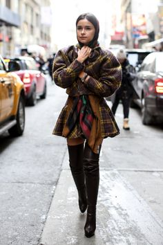 Miroslava Duma - Street Style at New York Fashion Week #NYFW