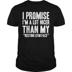 Awesome Running Lovers Tee Shirts Gift for you or your family member and your friend:  Nicer than my gym face Tee Shirts T-Shirts