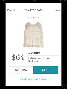 Mystree Lativia Lace Front Pullover. I love Stitch Fix! A personalized styling service and it's amazing!! Simply fill out a style profile with sizing and preferences. Then your very own stylist selects 5 pieces to send to you to try out at home. Keep what you love and return what you don't. Only a $20 fee which is also applied to anything you keep. Plus, if you keep all 5 pieces you get 25% off! Free shipping both ways. Schedule your first fix using the link below! #stitchfix @stitchfix…