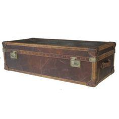 Vintage Trunk Soffbord Stor - TheHome - Möbler på nätet Vintage Trunks, Storage Chest, Ottoman, Furniture, Home Decor, Decoration Home, Room Decor, Home Furniture, Interior Design