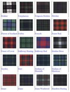 Scottish Tartan Patterns                                                                                                                                                                                 More