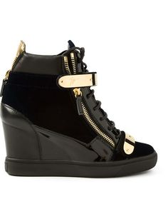 Shop Giuseppe Zanotti Design concealed wedge heel hi-top sneakers in  Biondini Paris from the 6bbbdb4f303e