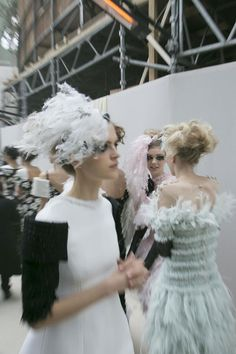 Backstage at Chanel Haute Couture S/S 2013