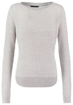 ONLY ONLGEENA Trui light grey melange, 21.95, http://kledingwinkel.nl/shop/dames/only-onlgeena-trui-light-grey-melange/