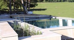 Naturpool Guntramsdorf Outdoor Decor, Home Decor, Floating Pond Plants, Water Garden, Natural Stones, Room Decor, Home Interior Design, Home Decoration, Interior Decorating