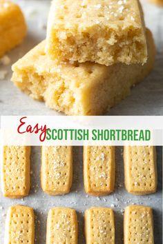 Traditional Shortbread Recipe, Best Shortbread Cookie Recipe, Walkers Shortbread Cookies, Butter Shortbread Cookies, Scottish Shortbread Cookies, Shortbread Recipes, Delicious Cookie Recipes, Easy Cookie Recipes, Baking Recipes