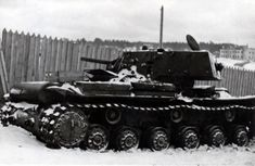 Tank KV-1 with a shielded tower, killed by Finnish troops, pin by Paolo Marzioli