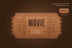 Awesome Free Ticket icon PSD Freebie. Hi resolution movie ticket icon fully vector shaped Hollywood ticket PSD file with paper textured background easy editable Photoshop file for print ready event ticket template.; File Resolution: 1280 x 1024 File Format: PSD ( vector) Keywords: Hollywood ticket movie icon admit-one ticket icon event ticket template Size: 2.64 MB (zip)  #Admit-oneticketicon #Eventtickettemplate #hollywood #Movieicon #Ticket