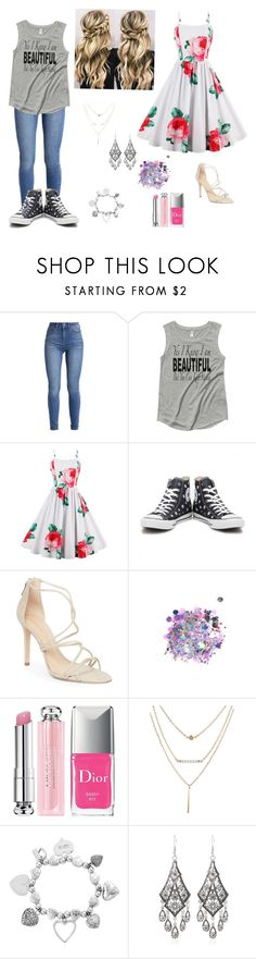 """Cabin 10"" by avianmarks ❤ liked on Polyvore featuring beauty, Converse, Schutz, The Gypsy Shrine, Christian Dior and ChloBo"