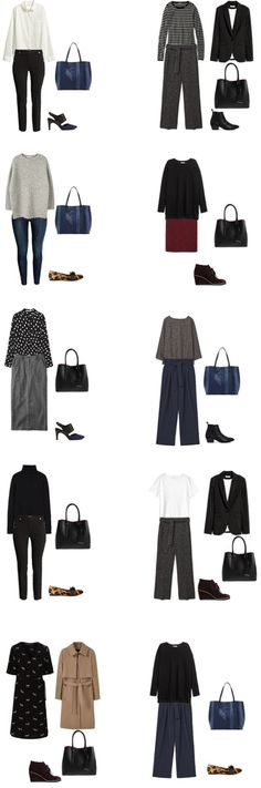 Fall 2016/Winter 2017 Work Capsule Wardrobe Outfit Options 3- livelovesara