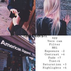 VSCOcam filters on Pinterest   App, Instagram and Medium