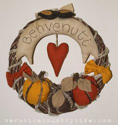 EPATTERN Autumn in Love Wreath  Ghirland by VERONICACOUNTRYLIFE, €6.00