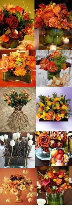 I love these flower colors. They are perfect for a fall wedding!
