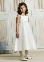 Kjole til brudepike med tyllskjørt 08-342, brudepikekjole, brudepike kjole, blosterkjole, blomsterpikekjole