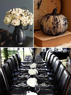 Stunning & elegant. Halloween Wedding Decor
