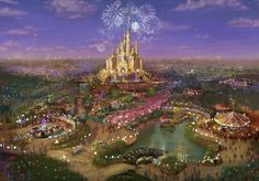 Art rendering of the new Shanghai Disney Resort from the Disney Parks Blog. MouseTalesTravel.com