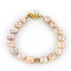 KASUMI PEARL BRACELET ROSE GOLDEN 9-10mm 18K GOLD from New World Gems