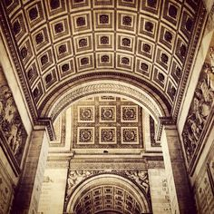 Inside Arc de Triomphe