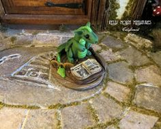 Dollhouse Miniature 112 Scale Reading Dragon by FatCatDesignsMinis