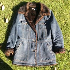 Marvin Richards Faux Fur Mink Lined Jean Jacket There is a small unnoticeable stain shown in second picture above, but other than that jacket is in lovely condition. Please feel free to ask any questions. Marvin Richards  Jackets & Coats Blazers