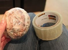 Use old magazine pages OR torn wrapping paper (Christmas, anyone!) + packing tape = works just like those expensive styrofoam crafting balls! #craft #repurpose funcheaporfree.com #funcheaporfree