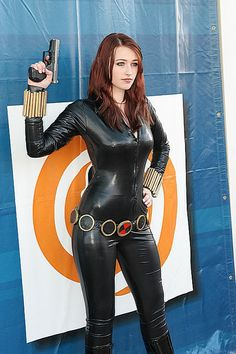 Avengers – Black Widow with a hand gun - Cosplay and Costumes #cosplay