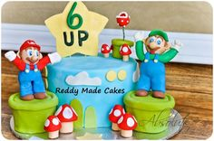 Mario and Luigi Cake.    Please check out my Facebook for more photos, Search Reddy Made Cakes.