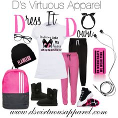 D's Virtuous Apparel by dvapparel on Polyvore featuring ONLY, Victoria's Secret PINK, yunotme, UGG Australia and adidas