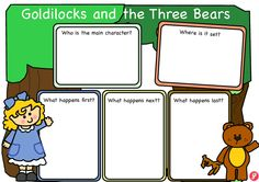 Goldilocks and the Three Bears Story Plan - A clear worksheet aiding children in planning and mapping the story of Goldilocks and the Three Bears. Download includes colour and black and white version. Ideal for sequencing and as preparation for a retell. More FREE resources at: www.justteachit.co.uk