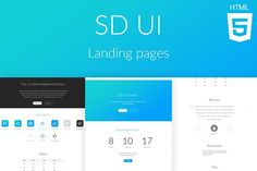 SD UI landing pages by SD Themes on @creativemarket